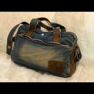 Denim Laptop Messenger Bag